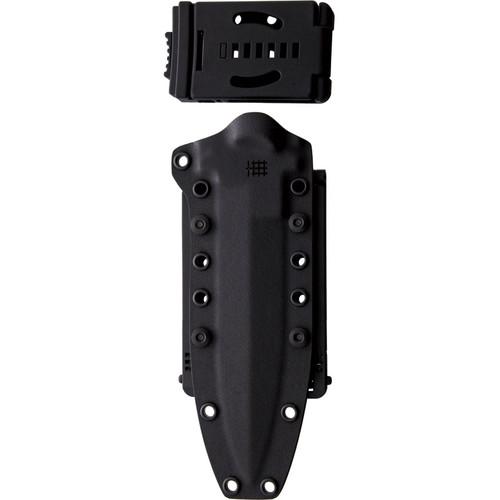 "Halfbreed Blades Medium Infantry Knife MIK-01PS, 6.49"" K110 D2 Teflon Coated Plain Blade, Black G-10 Handle"