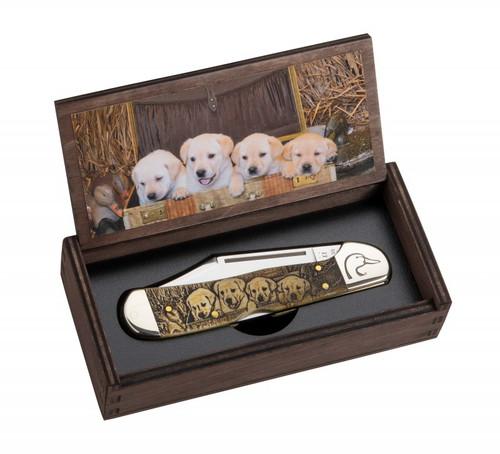Case Copperlock 172525 Ducks Unlimited Embellished Smooth Natural Bone Handle (61549L SS) - Gift Set