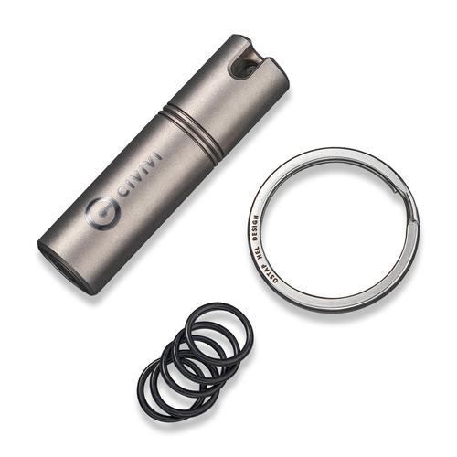 CIVIVI Key Bit C20048-1 | Gray Titanium Body, Steel Torx Screwdriver Tool Set (T6 + T8) Key Ring