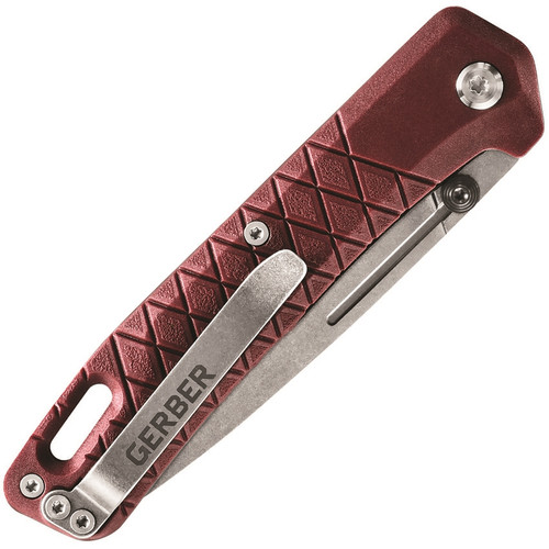 """Gerber Zilch Drab Red GRN (3.1"""" Stonewashed) 30-001882"""