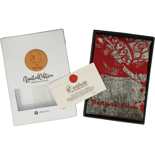 Bastinelli Creations Limited Handkerchief - Red & Gray (BAS230)