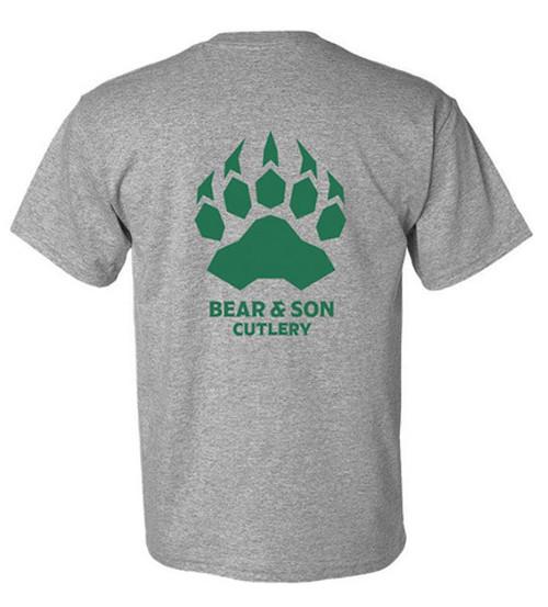 "Bear & Son Triple X T-Shirt - ""Just Flip It"" Large Gray Cotton & Polyester"