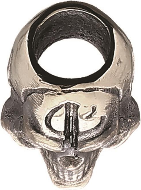 Bastinelli Small Skull Lanyard Bead - Pewter Contruction
