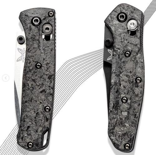 Flytanium Shredded CF Scales - for Benchmade MINI Osborne 945
