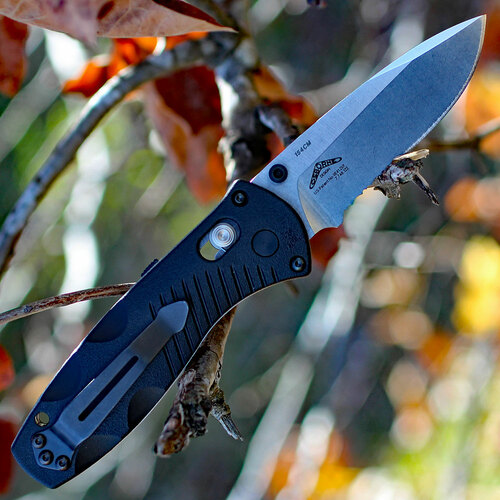 Benchmade Mini Barrage 585S, 2.91 in. 154CM Stainless Blade, Assisted Opening, Combo Edge