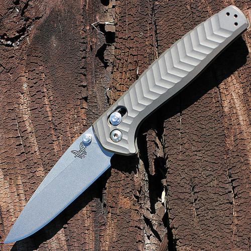 "Benchmade BM781 ANTHEM, 3.5"" CPM-20CV SS Plain Blade, Anodized Billet Titanium Handle"
