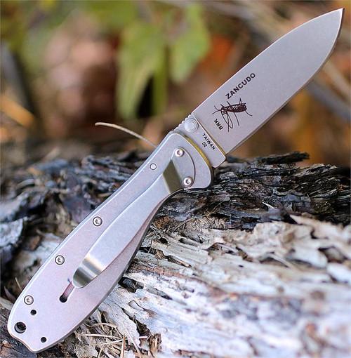 BRK Zancudo Carbon Fiber /G 10 handles, Stonewash D2 Steel, Design by Esee Knives