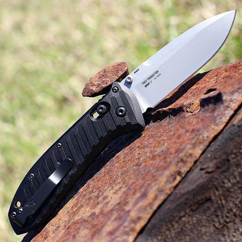 "Benchmade BM570 Manual Presidio II, 3.72"" CPM-S30V SS Plain Blade, Anodized 6061-T6 Billet Aluminum Handles"