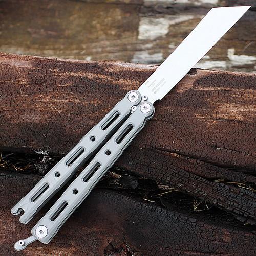 "Benchmade BM87 Ti BALI-SONG, 4.5"" CPM-S30V SS Plain Blade, Billet Titanium Handle"
