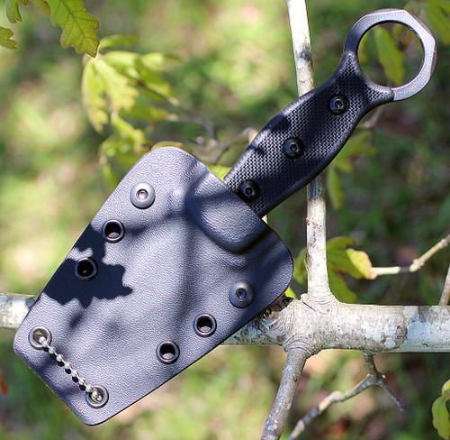 "TOPS ICED-01 I.C.E. Dagger, 3.0"" 1095 Carbon Steel Dagger Blade, Black G-10 Handle"
