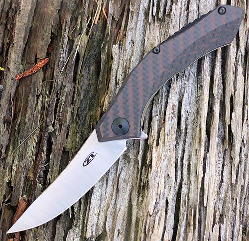 "Zero Tolerance 0460 Sinkevich, 3.25"" S35VN Plain Blade, Bronze Carbon Fiber/Titanium Handle"