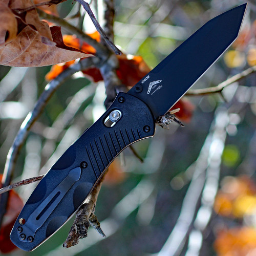Benchmade Barrage 583BK, 3.6 in. 154CM Stainless Blade, Assisted Opening, Black Plain Edge