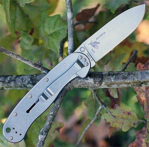 "BRK Avispa BRK1302, 3.5"", Stonewash D2 Steel, Plain Edge, Drop Point, Design by Esee Knives, Black Nylon handles"