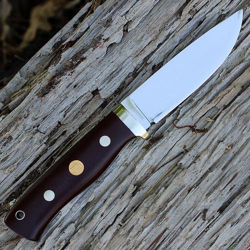 Fallkniven F1L3Gmm Next Generation, 4.05 in 3G Steel Plain Blade, Maroon Micarta Handle