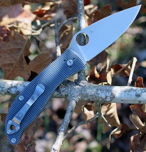 "Spyderco Polestar G-10 Grey C220GPGY, 3.30"" CTS BD1 Plain Blade"
