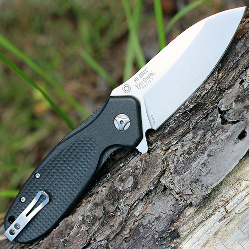 "CRKT K281KXP Hi Jinx Z, 3.3"" 1.4116 SS Plain Blade, Black Nylon Handles"