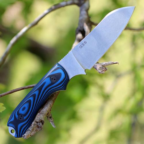 "Bradford Guardian3 3D, 3.625"" N690 Sheepfoot Blade, Black/Blue G-10 Handle"