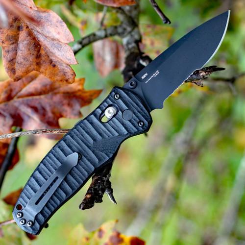 "Benchmade BM1000001SBK Volli, 3.2"" CPM-S30V SS Combo Blade, G-10 Handle"