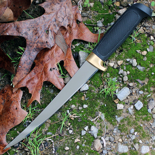 """Marttiini 836015 Condor Golden Trout, 7.5"""" Stainless Fillet Blade, Black Rubber Handle"""