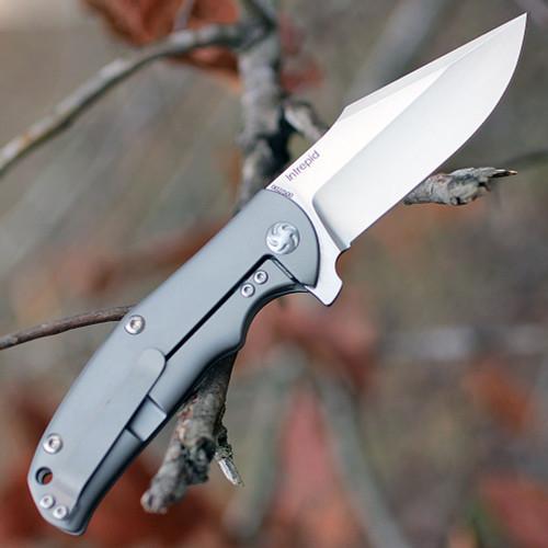 """Kizer 3468 Intrepid, 3"""" M390 Plain Blade, Titanium Handle"""