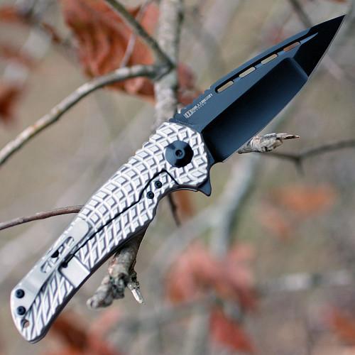 "Kizer 4489 Yamakasi, 3.5"" CPM-S35VN Plain Blade, Titanium Handle"