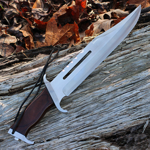 "Rambo 9297 First Blood Part III Signature Edition, 13"" 440 Plain Blade, Hardwood Handle"
