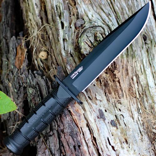 "Cold Steel Leatherneck SF 39LSFC, 6 3/4"" D2 Black Plain Blade,  Kray-Ex Handle"