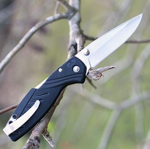 "Buck 364BKS Rival 1 Lockback, 2.75"" 420HC Plain Blade, Black Nylon Handle"