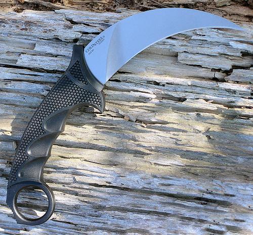"Cold Steel 49KST Steel Tiger Karambit, 4.75"" AUS 8 Plain Blade, Black Griv-Ex Handle"
