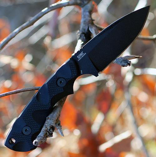 "CRKT 2082 Siwi, 3.3"" SK5 Plain Blade, Black Nylon Handle"