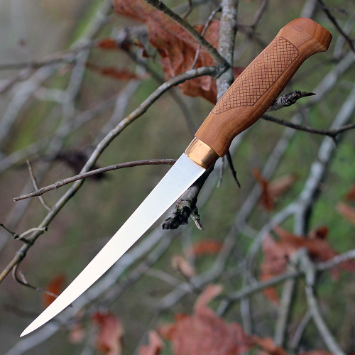 """Marttiini 620016 Classic Fillet Knife, 4"""" Stainless Blade, Birch Handle"""