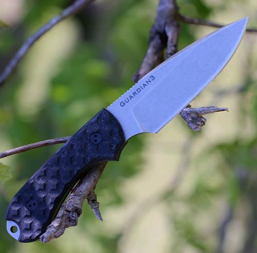 "Bradford Guardian3 EDC, 3.5"" N690 Plain Blade, Black G-10 Handle"