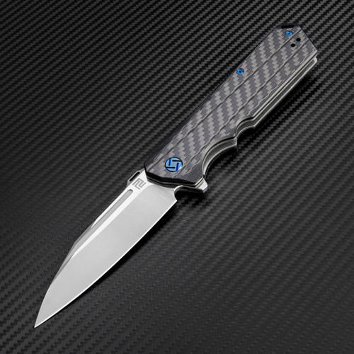 Artisan Littoral ATZ1703PCF, 3.54 in. S35VN Plain Blade, Carbon Fiber Handle