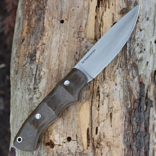 "Bark River 06118MGC Trakker Companion, 4"" A-2 Plain Blade, Green Canvas Micarta Handle"