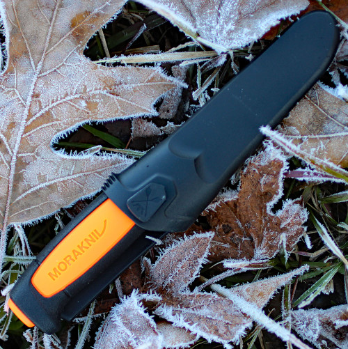 "Morakniv 02206 Basic 546, 3.6"" Stainless Plain Blade, Black/Orange Polymer Handle"