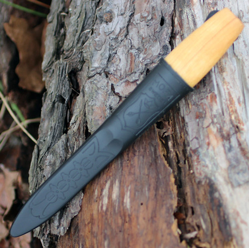 "Morakniv 01811 Woodcarving Kit, 2.6"" Laminated Plain Blade, Birch Wood Handle"