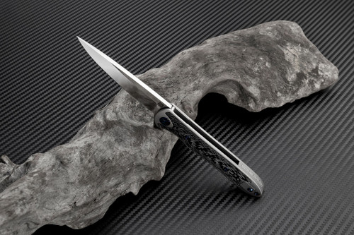 "Artisan ATZ1707GSGY Small Shark, 3.15"" S35VN Plain Blade, Gray Titanium TC4 Handle"
