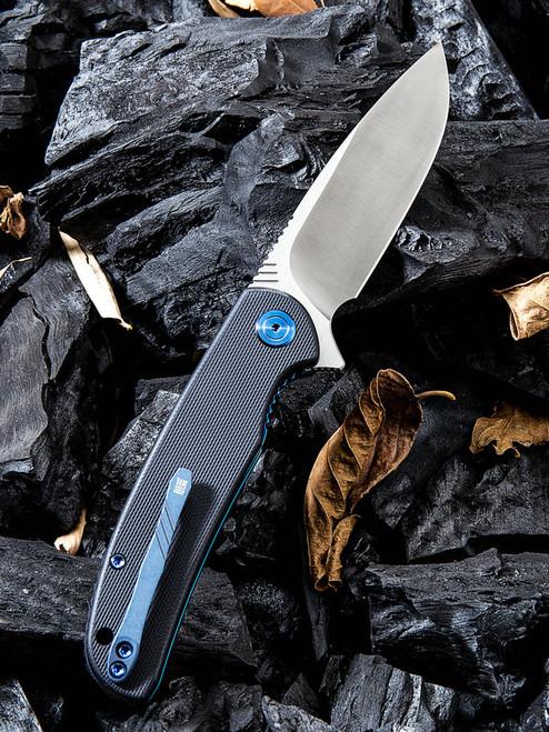 "We Knife 809C Practic, 3.3"" Bohler M390 Plain Blade, Black G-10 Handle"