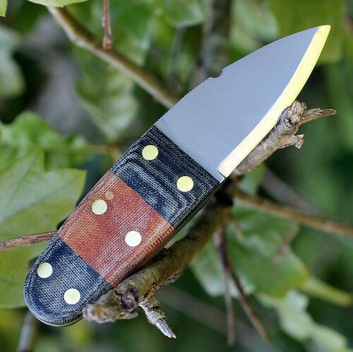Condor Primitive Bush Dagger CTK3923-2.6HC, 2.63 in. 1075 High Carbon Steel, Micarta Handle