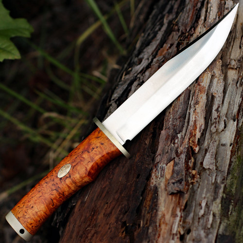 "Fallkniven Krut SK6se Limited Edition, 6.22"" Lam.CoS Satin Plain Blade, Curly Brich Handle"