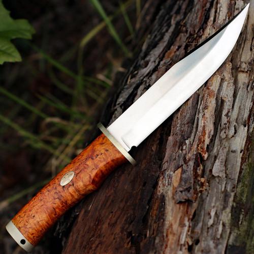"Fallkniven Krut SK6se Limited Edition, 6.22"" Lam.CoS Satin Plain Blade, Curly Brich Handle"