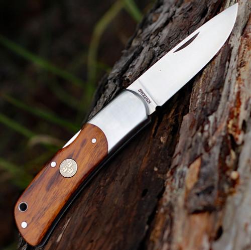 "Fallkniven TK3ic Tre Kronor, 2.75"" 3G Steel Plain Blade, Desert Ironwood Handle"
