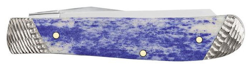 "Smooth Ultraviolet Mini Trapper, 2.7"" Tru-Sharp Stainless, Mirror-Polished Blade, Ultraviolet Bone Smooth Handle"