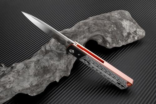 "Artisan Classic ATZ1802GGDS, 3.94"" S35VN Plain Blade,  Rose G10 Handle"