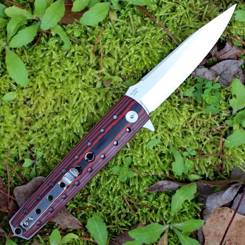 "Artisan ATZ1807GBRS Virginia, 3.94"" S35VN Plain Blade, Brown G-10 Handle"