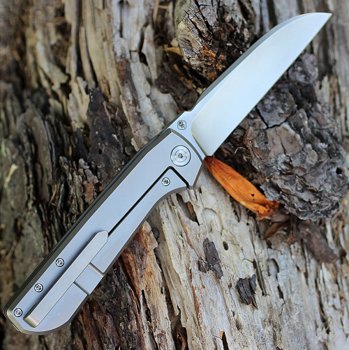 "We Knife 813A Wasabi, 3.9"" Bohler M390 Blade, Titanium Handle"