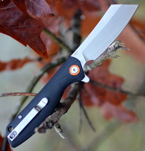 "Artisan Tomahawk  ATZ1815PSBKC, 2.36"" D2 Steel Tanto Blade, Black G10 Handle-Curve"