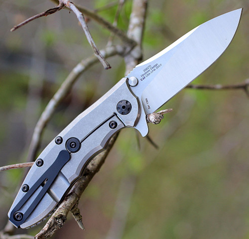 "Zero Tolerance 0562TI, 3.5"" CPM 20CV Stonewash Blade, Titanium Handle"