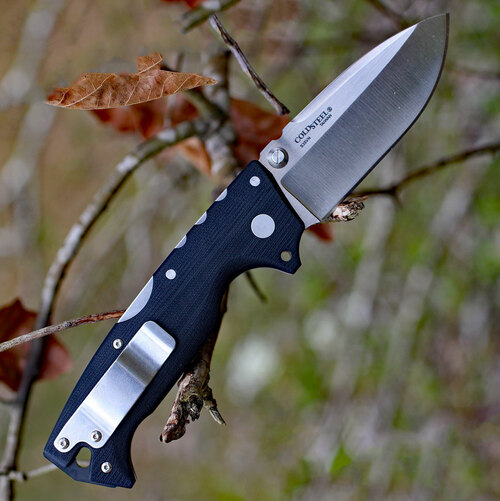 "Cold Steel 28DD Demko AD-10, 3.5"" S35VN Plain Blade, Black G-10 Handle"