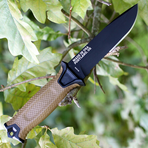 "Gerber 1059 Strongarm, 4.8"" 420HC Combo Blade, Coyote Tan GFN Handle"